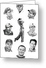 Tiger Woods-murphy Elliott Greeting Card