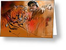 Tiger Woods Or Earn Your Stripes Greeting Card