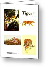 Tigers Montage Greeting Card