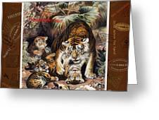 Tigers For Responsible Tourism Greeting Card