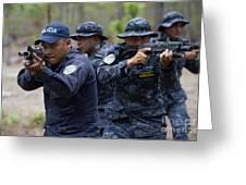 Tigres Commandos Conduct Bounding Greeting Card