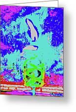 Tiki Lamp Greeting Card
