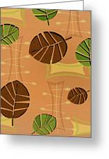 Tiki Lounge Wallpaper Pattern Greeting Card
