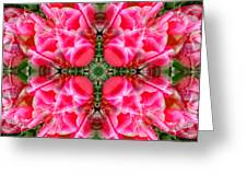Tiki Tulip Mandala Greeting Card