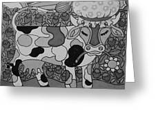 Tile Cow Greeting Card