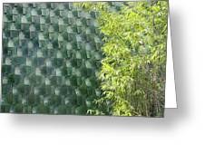 Tile Wall Of The Ringling Museum Asian Art Center Greeting Card