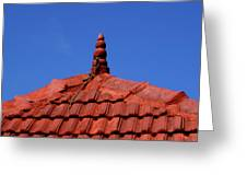 Tiled Roof Near Ooty, India Greeting Card