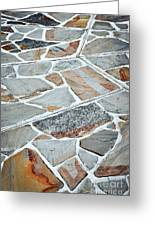 Tiles From Sandstone Quarried Stone Greeting Card