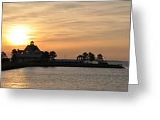 Tilghman Island Marina At Sunrise Greeting Card