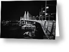 Tilikum Crossing Cutting Through The Night Greeting Card