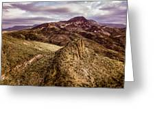 Tilt-shift Mountain Peak Greeting Card