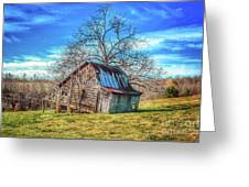 Tilted Log Cabin Greeting Card