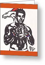 Tim Tebow 2 Greeting Card by Jeremiah Colley