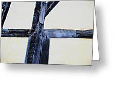 Timber Framing Detail Greeting Card