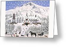 Timberline Lodge Greeting Card