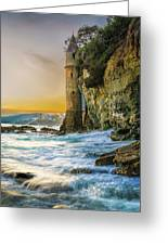 Time Flows I Wait Greeting Card