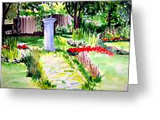 Time In A Garden Greeting Card