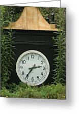Time In The Garden Greeting Card