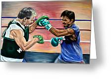 Time In The Ring Greeting Card by Dawn Graham