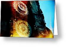Time Is Burning Greeting Card