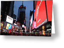 Time Square New York City Greeting Card