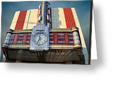 Time Theater Marquee 1938 Greeting Card
