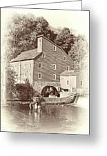 Timeless-clinton Mill N.j.  Greeting Card