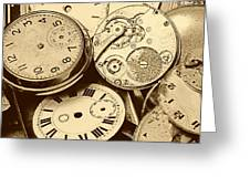 Timepieces Greeting Card by John Short