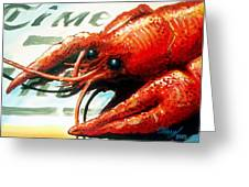 Times Picayune Crawfish Greeting Card by Terry J Marks Sr