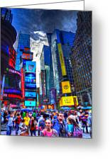 Times Square 7453 Greeting Card