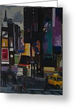 Times Square Crossing Greeting Card