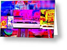 Times Square Frenzy Greeting Card