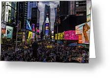 Times Square From The Steps Greeting Card