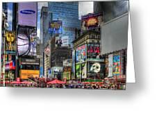 Times Square Greeting Card by Joe Paniccia