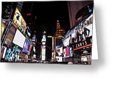 Times Square New York City New Years Eve Greeting Card