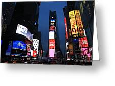 Times Square New York Greeting Card