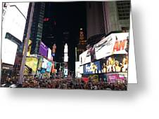 Times Square On A Tuesday. Greeting Card
