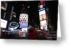 Times Square On News Year Eve Greeting Card