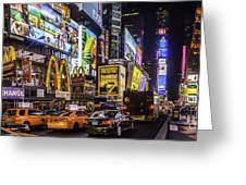 Times Square Pano Greeting Card