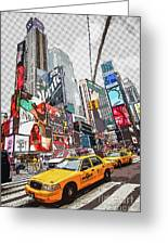 Times Square Pop Art Greeting Card