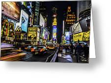 Times Square Traffic Greeting Card