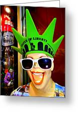 Times Square Trish Greeting Card