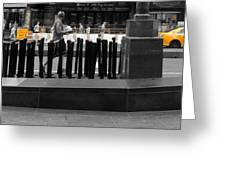 Times Square Yellow Sunday Morning Greeting Card