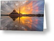 Timeslice A Day To Night Of By The Lake Greeting Card