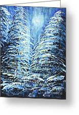 Tim's Winter Forest Greeting Card