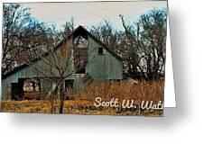 Tin Barn Greeting Card