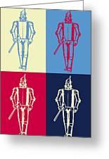 Tin Man Pop Art Poster Greeting Card