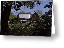 Tin Roofed Barn Greeting Card