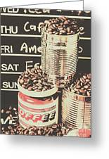 Tin Signs And Coffee Shops Greeting Card