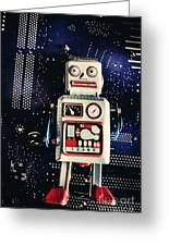 Tin Toy Robots Greeting Card